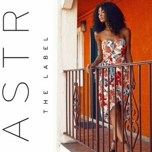 HP🌸ASTR The Label Josefina Floral Strapless Dress